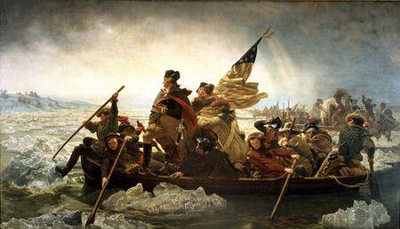 Washington Crossing the Delaware by Emanuel Leutze, MMA-NYC, 1851